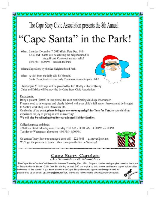 Cape_Santa_2013 Flyer